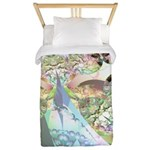 Wings of Angels Amethyst Crystals Twin Duvet