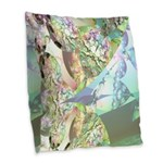 Wings of Angels, Abstract Burlap Throw Pillow