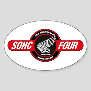 SOHC/4 20th Anniversary Logo Sticker (Oval)
