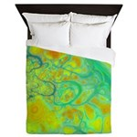 The Green Earth Abstract Queen Duvet
