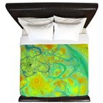 The Green Earth Abstract King Duvet