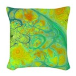 The Green Earth Abstract Woven Throw Pillow