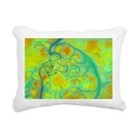 The Green Earth Abstract Rectangular Canvas Pillow