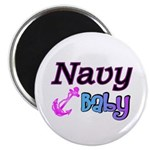 Navy Baby pink anchor Magnet
