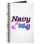 Navy Baby pink anchor Journal