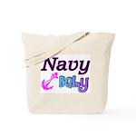 Navy Baby pink anchor  Tote Bag