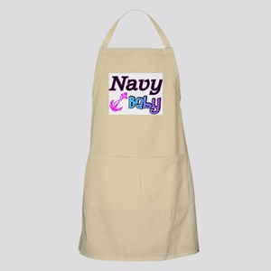 Navy Baby pink anchor BBQ Apron