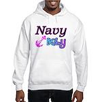 Navy Baby pink anchor Hooded Sweatshirt