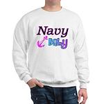 Navy Baby pink anchor Sweatshirt