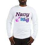 Navy Baby pink anchor Long Sleeve T-Shirt