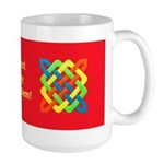 Celtic Knot - Bright Rectangles Large Mug