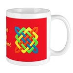 Celtic Knot - Bright Rectangles Mug
