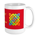 Celtic Knot - Woven Rectangles Large Mug