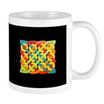 Celtic 12 Circles - Bright on Black Mug