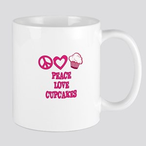Peace Love Cupcakes Mugs