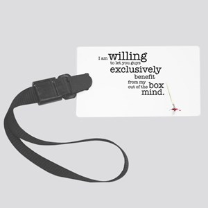 Out of the box mind Large Luggage Tag