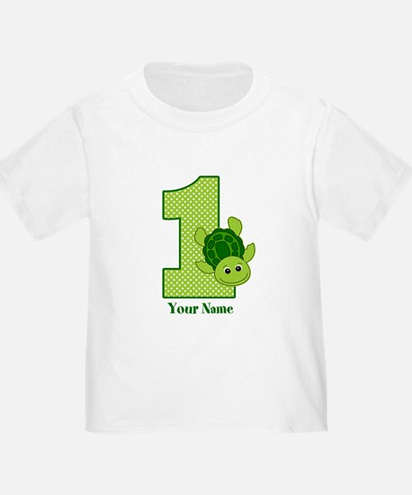 Personalized Turtle 1st Birthday T