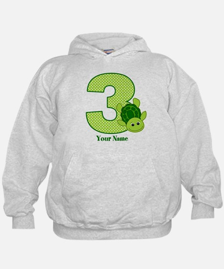 Personalized Turtle 3rd Birthday Hoodie
