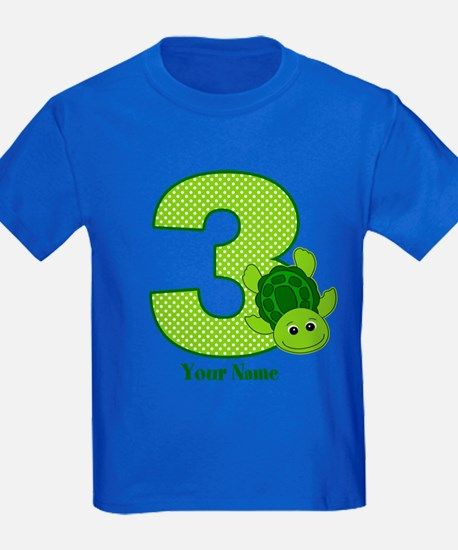 Personalized Turtle 3rd Birthday T