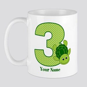 Personalized Turtle 3rd Birthday Mug