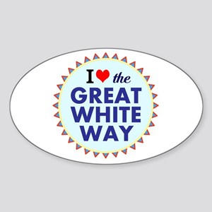 Great White Way Sticker