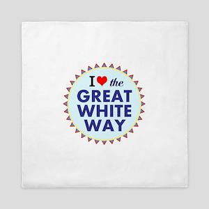 Great White Way Queen Duvet