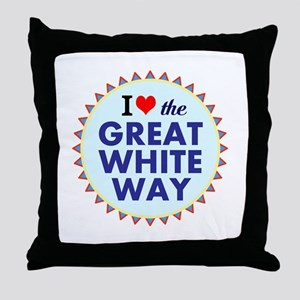 Great White Way Throw Pillow