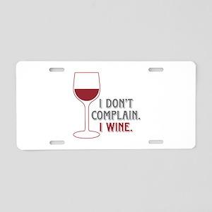 I Wine Aluminum License Plate