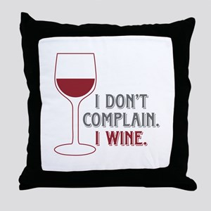 I Wine Throw Pillow