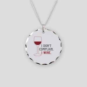 I Wine Necklace Circle Charm