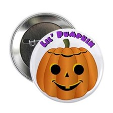 Halloween Lil' Pumpkin Button