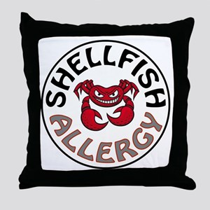 SHELLFISH ALLERGY Throw Pillow