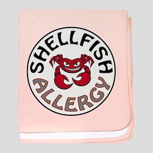 SHELLFISH ALLERGY baby blanket