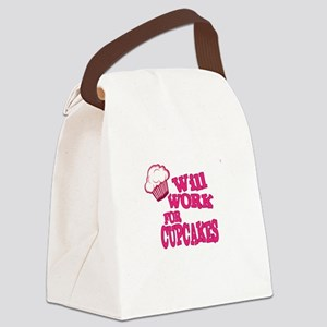 Will Work for Cupcakes Canvas Lunch Bag