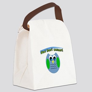 Owl beat cancer! Canvas Lunch Bag