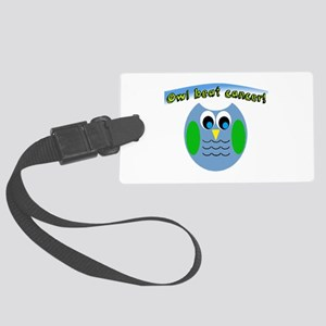 Owl beat cancer! Luggage Tag