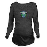 Owl beat cancer! Long Sleeve Maternity T-Shirt
