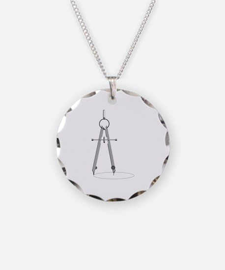 Drawing Compass Necklace