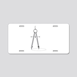 Drawing Compass Aluminum License Plate