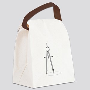 Drawing Compass Canvas Lunch Bag