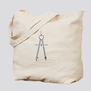 Drawing Compass Tote Bag