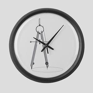 Drawing Compass Large Wall Clock