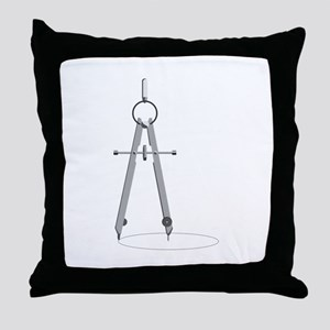 Drawing Compass Throw Pillow