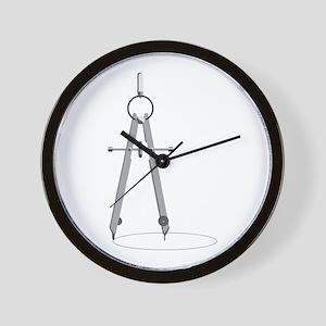 Drawing Compass Wall Clock