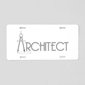 Architect Aluminum License Plate
