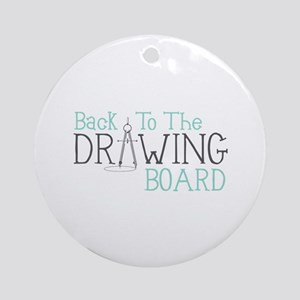 Back To The Drawing Board Ornament (Round)