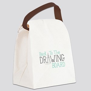 Back To The Drawing Board Canvas Lunch Bag