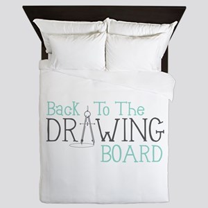 Back To The Drawing Board Queen Duvet