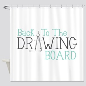 Back To The Drawing Board Shower Curtain