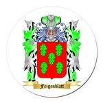 Feigenblatt Round Car Magnet